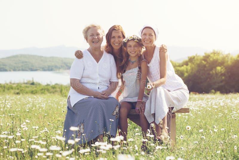 cztery pokolenia obraz stock