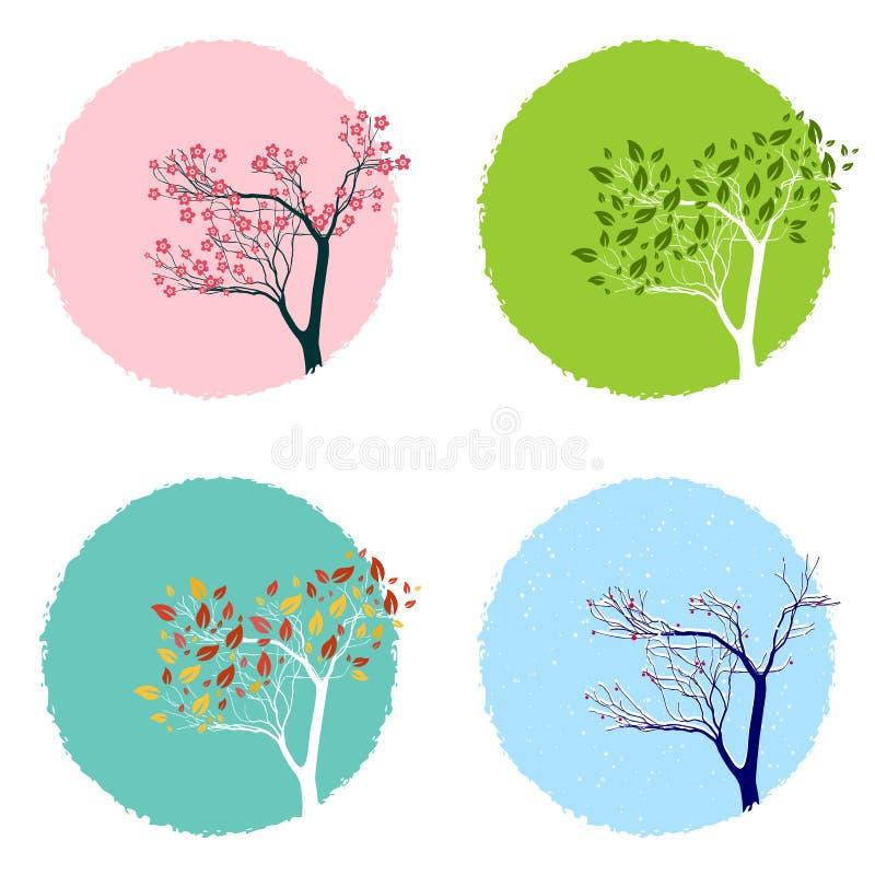 cztery pory roku ilustracji