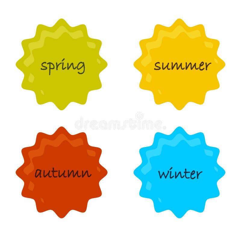 cztery pory roku ilustracja wektor
