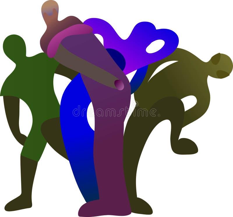 Cztery postaci atlet postać z kreskówki grupowi lifter ludzie piłki nożnej siatkówki ciężaru jest może projektant wektor evgeniy  ilustracja wektor