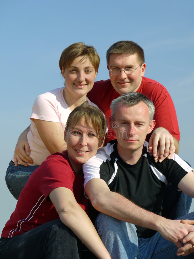 cztery przyjaciela fotografia stock