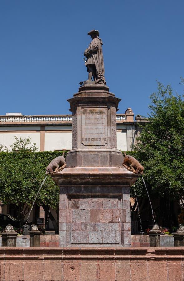 Cztery psów fontanna w Queretaro Meksyk zdjęcia royalty free