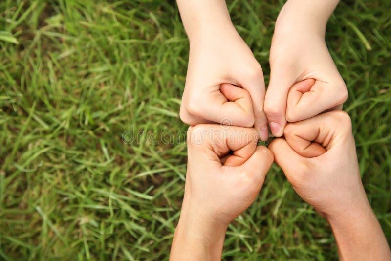 cztery ręce zdjęcie stock