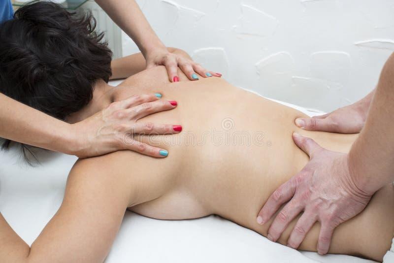 Cztery ręk masaż zdjęcia stock
