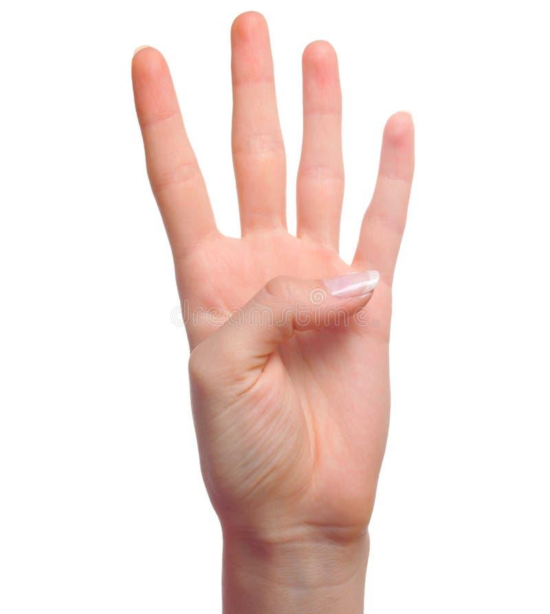 cztery ręk numerowy seans obrazy stock
