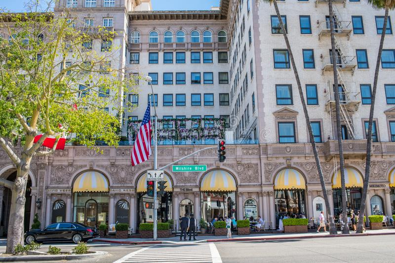 Cztery sezonu w Beverly Hills, Kalifornia obraz royalty free