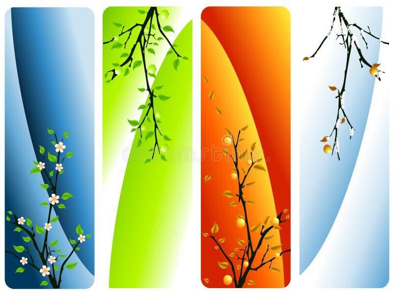 cztery sezonu wektorowego ilustracja wektor