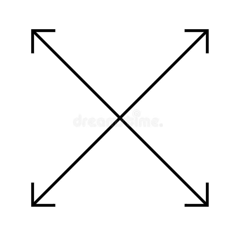 Cztery strzała ikona na białym tle Mieszkanie styl cztery strzała ic ilustracja wektor