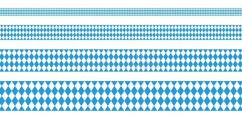 Cztery sztandarów Oktoberfest diamentu Prosty wzór royalty ilustracja
