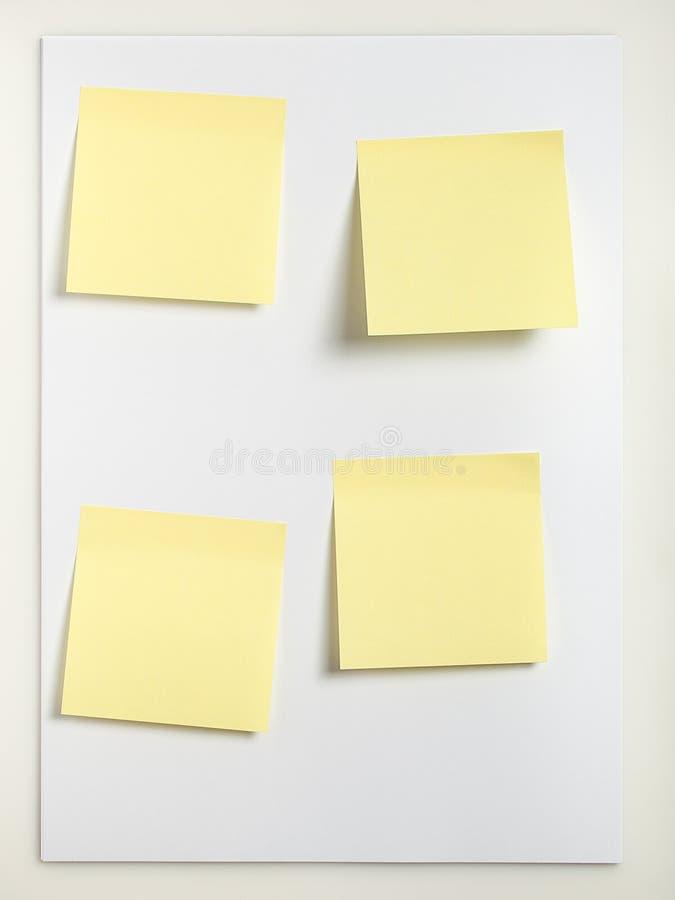 cztery uwagi kleistej zdjęcie stock