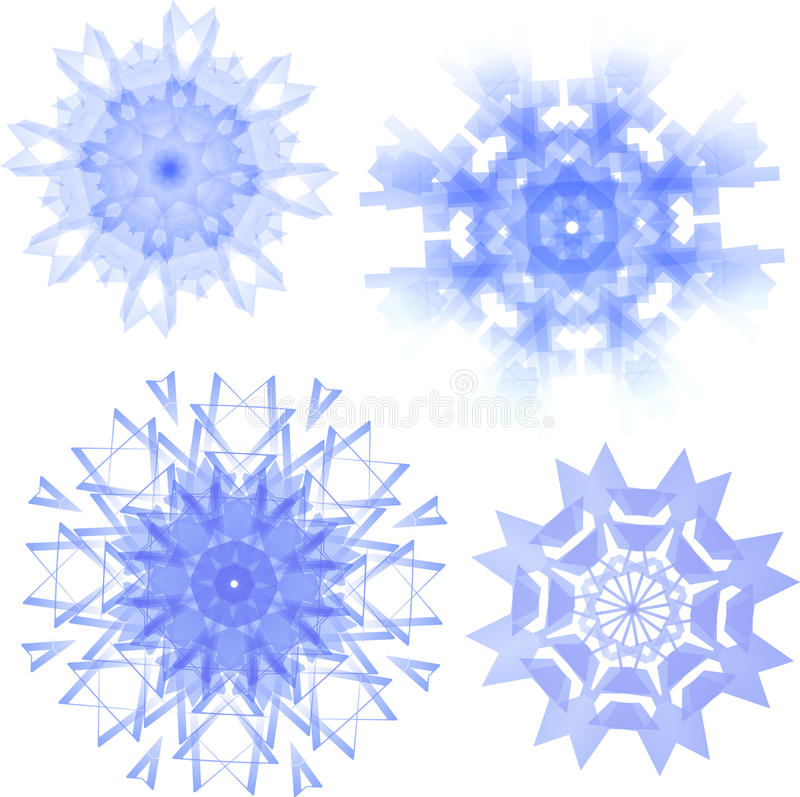 cztery wyznaczonym Śniegu royalty ilustracja