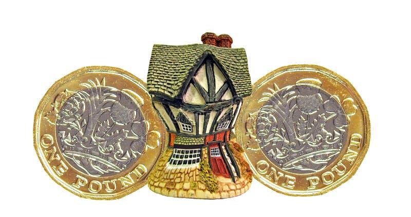 Czuć pieniężnego ściśnięcie hipotecznej pożyczki ciężar zadłużenia zdjęcia royalty free