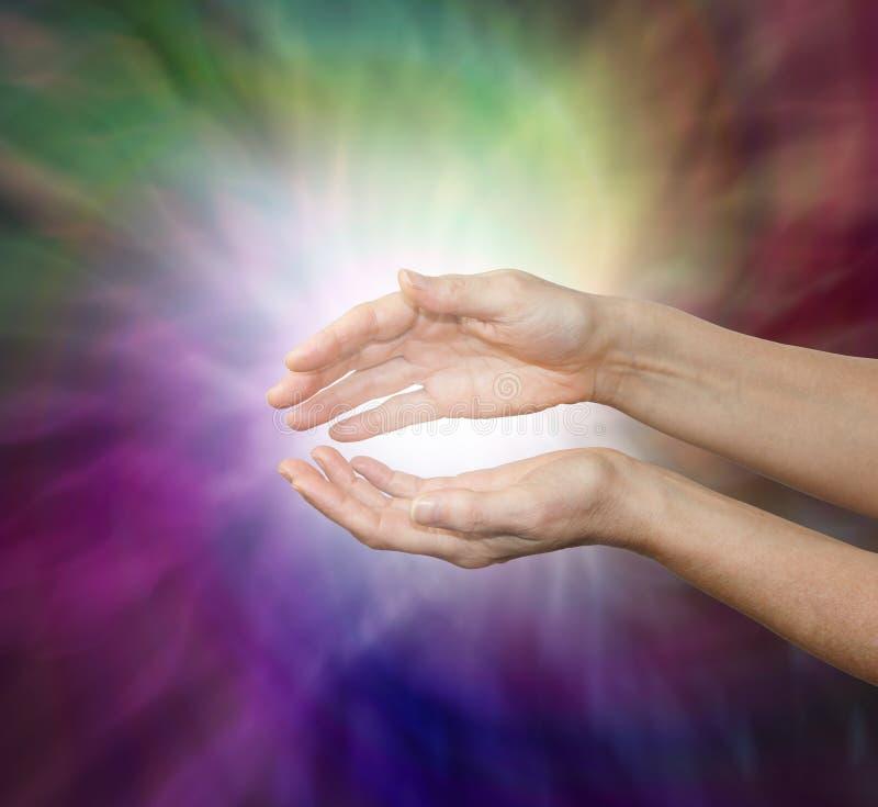 Czuciowa subtelna lecznicza energia zdjęcia royalty free
