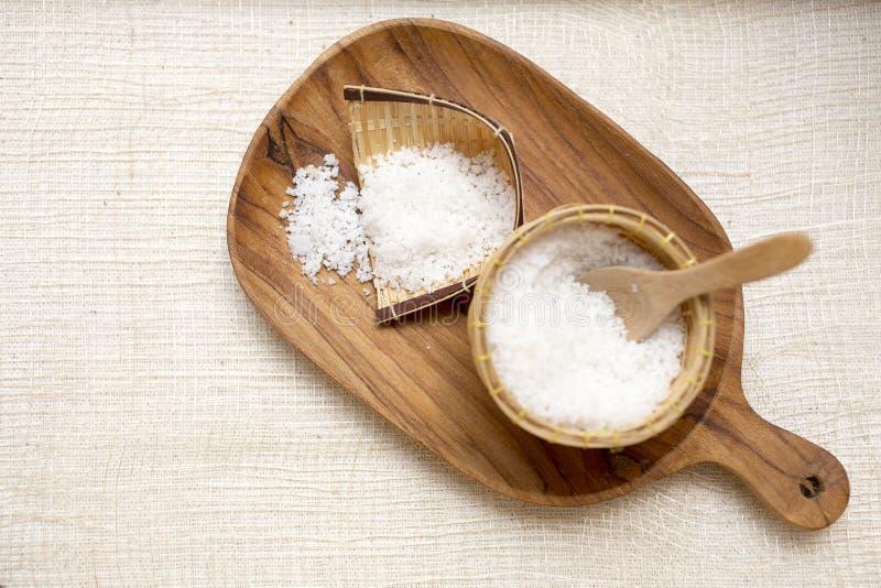 czuciowego pokojowego relaksu ustalony zdrój Aromat sól Handmade Solankowa pętaczka Tajlandia Toiletries s obrazy royalty free