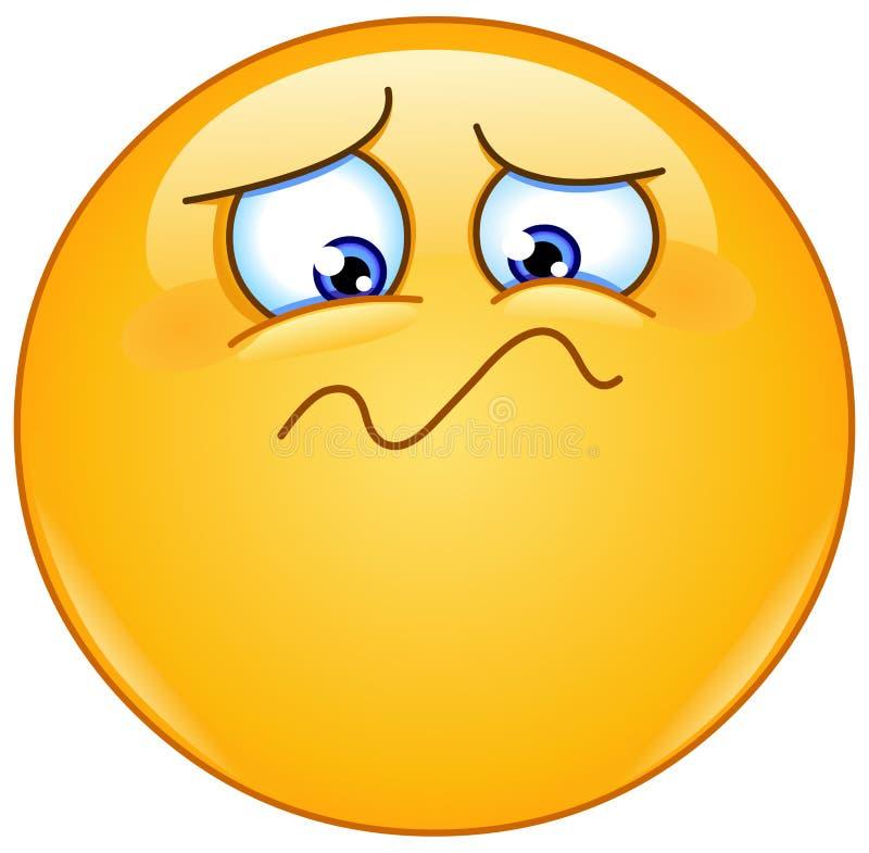 Czuciowy cierpiący emoticon ilustracji