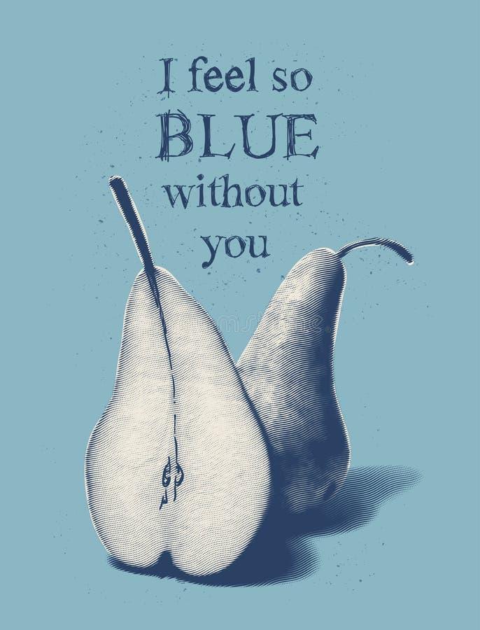 Czuję w ten sposób błękitnego bez ciebie zdjęcie stock