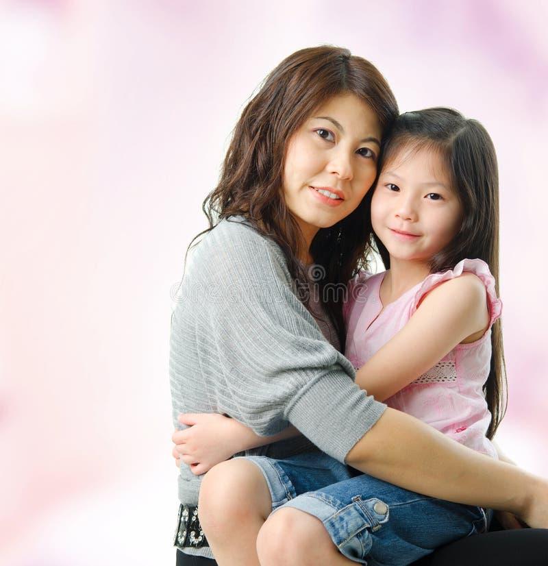 Azjata dziecko i rodzic. zdjęcia stock