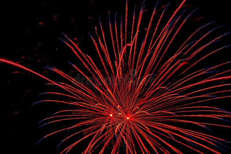 Czwarty Lipa dnia niepodległości świętowanie przynosi za fajerwerków pokazach zdjęcie royalty free