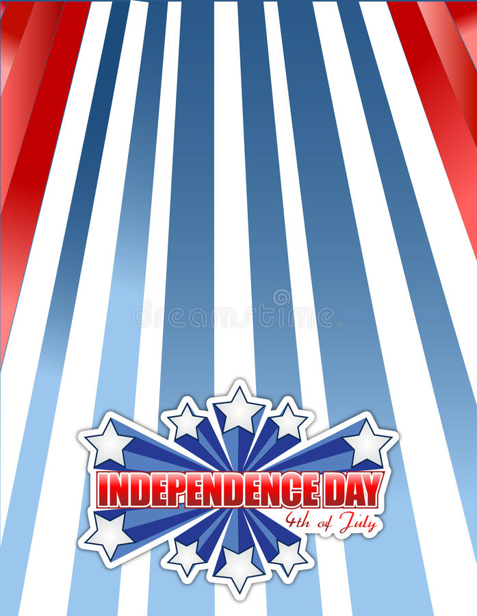 Czwarty Lipiec, dzień niepodległości patriotyczny ilustracja wektor