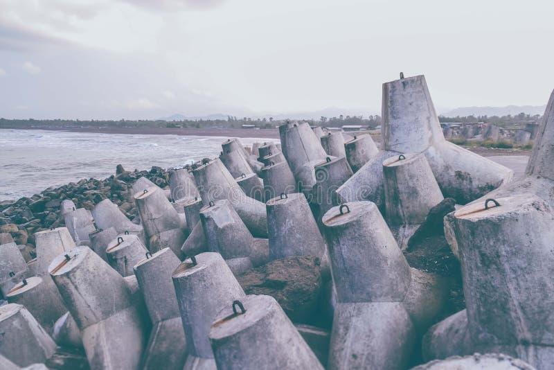 Czworościan plaża zdjęcia stock