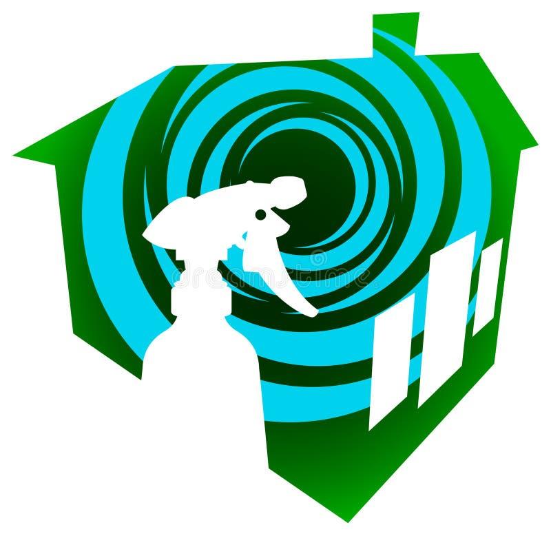 czyścić domowy logo royalty ilustracja