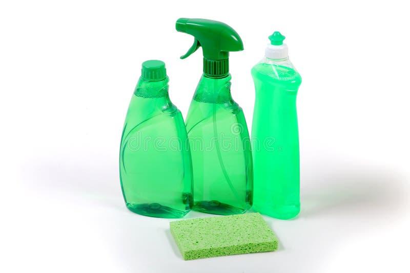 czyścić ekologicznie życzliwych zielonych produkty zdjęcie royalty free