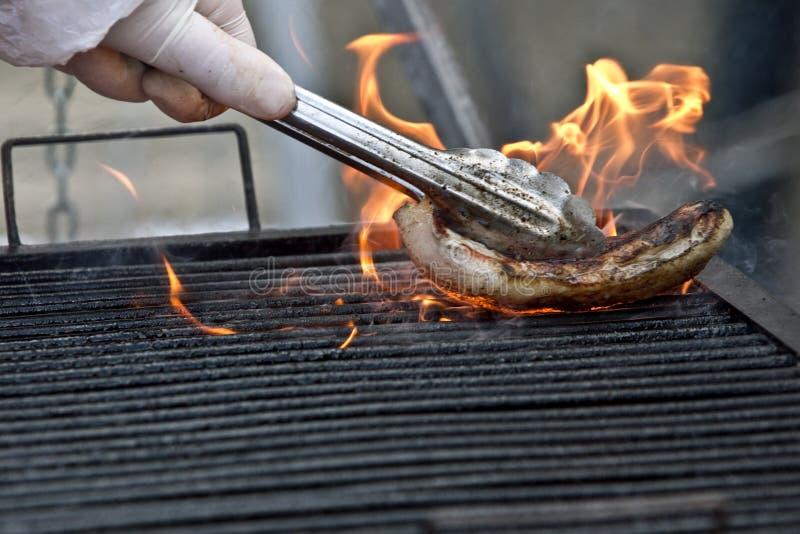 czyścić grill zdjęcie stock