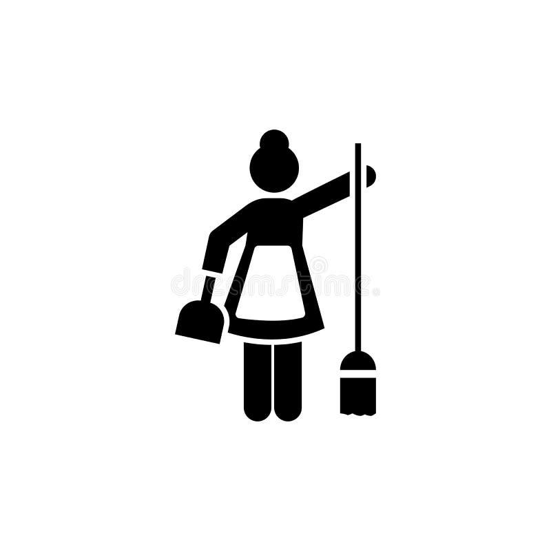 Czyścić, kobieta, gosposia, ludzka ikona Element hotelowa piktogram ikona Premii ilo?ci graficznego projekta ikona podpisz symbol ilustracji