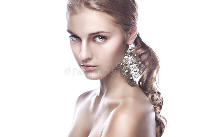Czyścić piękna portret blondyn obraz royalty free