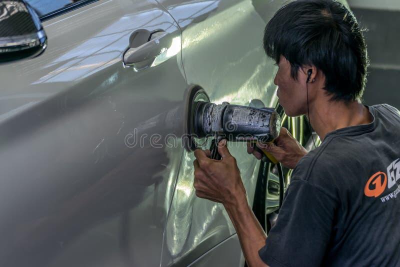 Czyścić samochód fotografia stock