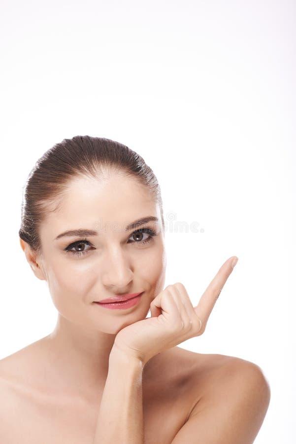 czyścić skóry zdrowej kobiety obraz royalty free