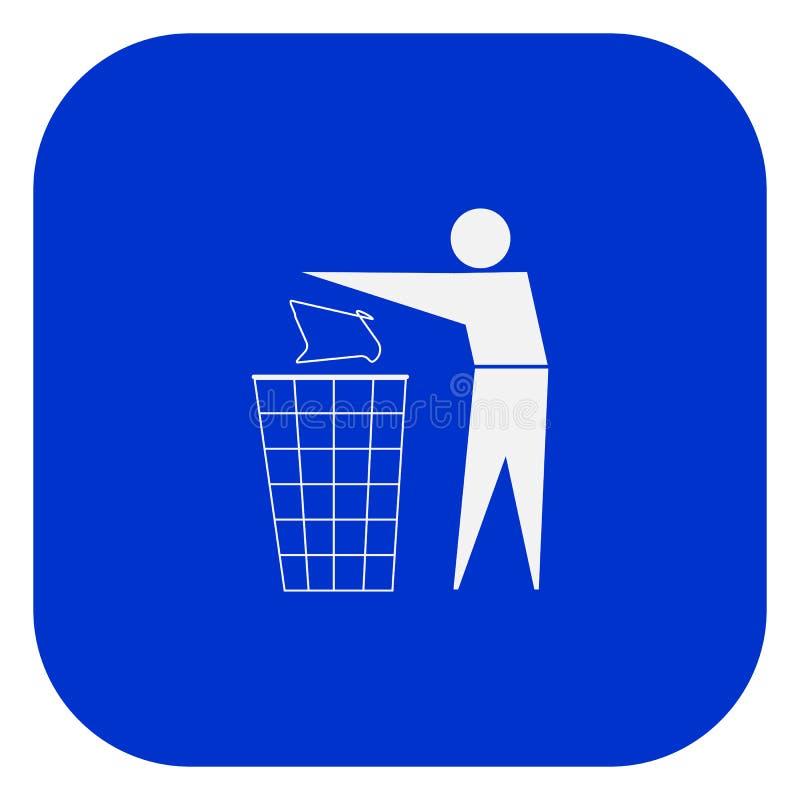 czyścić utrzymanie Żadny ściółka znak Biel na błękitnym tle wektor ilustracja wektor