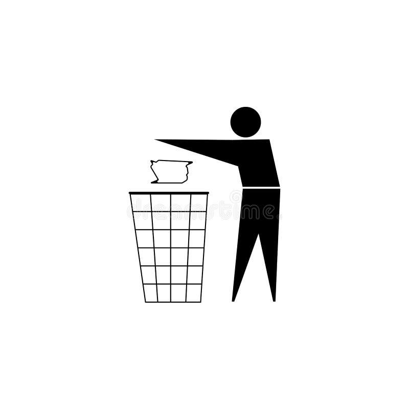 czyścić utrzymanie Żadny ściółka znak Czerń na białym tle wektor royalty ilustracja