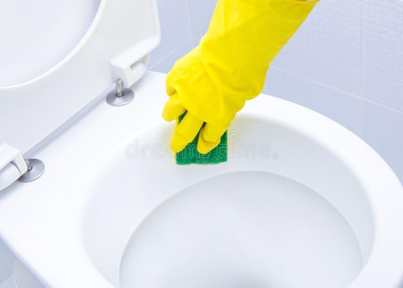 Czyścić WC zdjęcia stock