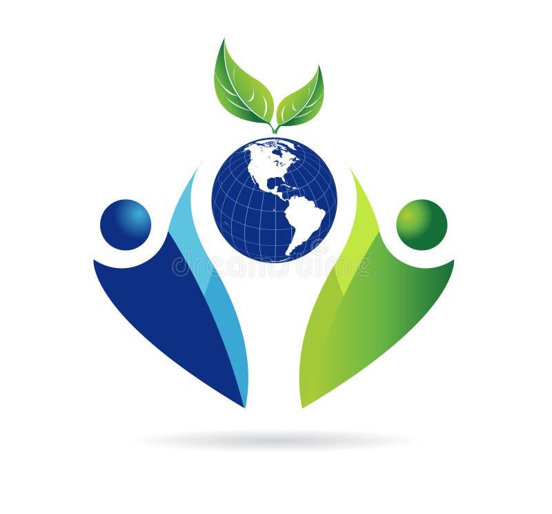 Czyścić ziemię i środowisko, matka natura, eco ikony wektor royalty ilustracja
