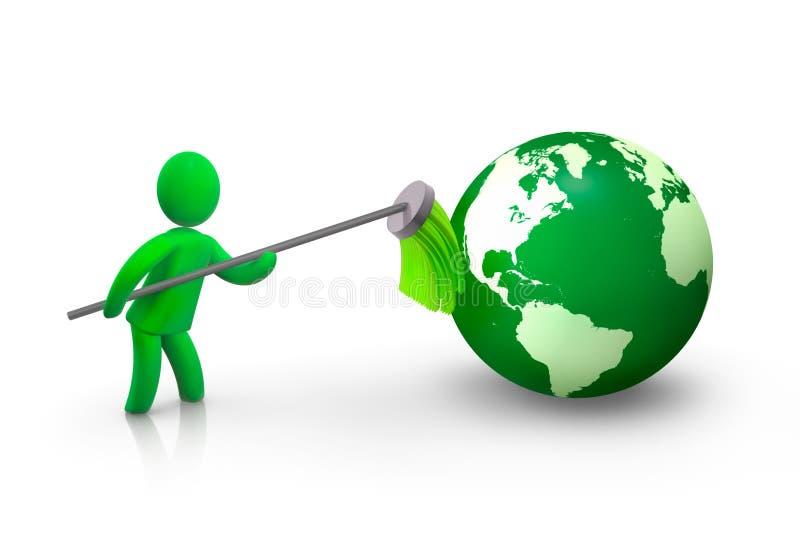 czyścić ziemia ilustracji