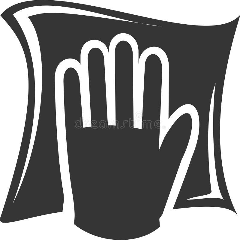 Czyści łachman - Wypełniający ręki obcieranie ilustracja wektor