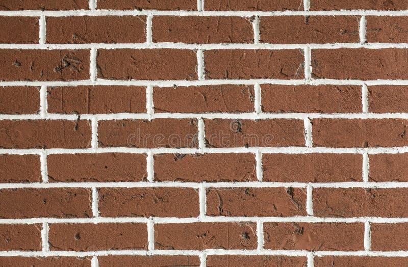 Czyści czerwonego brickwall tło zdjęcie royalty free