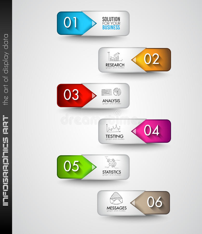 Czyści Infographic układu szablon dla dane i informaci analizy ilustracja wektor