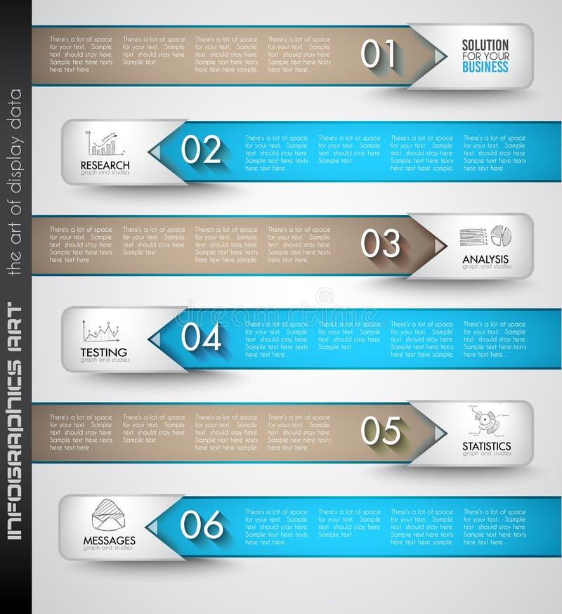 Czyści Infographic układu szablon dla dane i informaci analizy royalty ilustracja