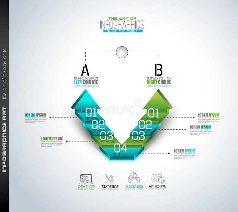 Czyści Infographic układu szablon dla dane i informaci analizy ilustracji