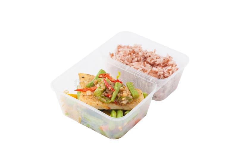 Czyści karmowego lunchu pudełko obrazy stock