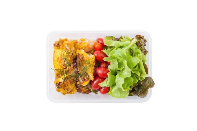 Czyści karmowego lunchu pudełko fotografia royalty free