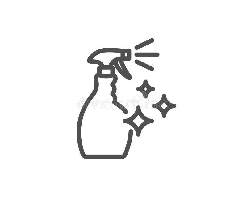 Czyści kiści kreskowa ikona Płuczkowy ciecz royalty ilustracja