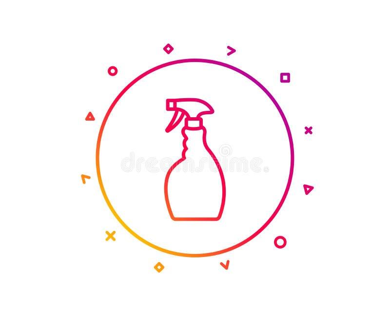 Czyści kiści kreskowa ikona Płuczkowy ciecz wektor royalty ilustracja