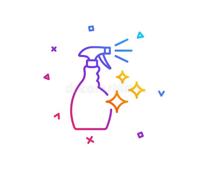 Czyści kiści kreskowa ikona Płuczkowy ciecz wektor ilustracji