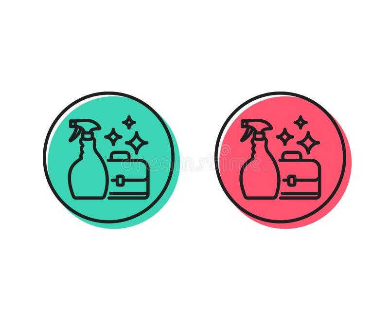 Czyści kiści kreskowa ikona Usługowy dyplomata wektor ilustracja wektor