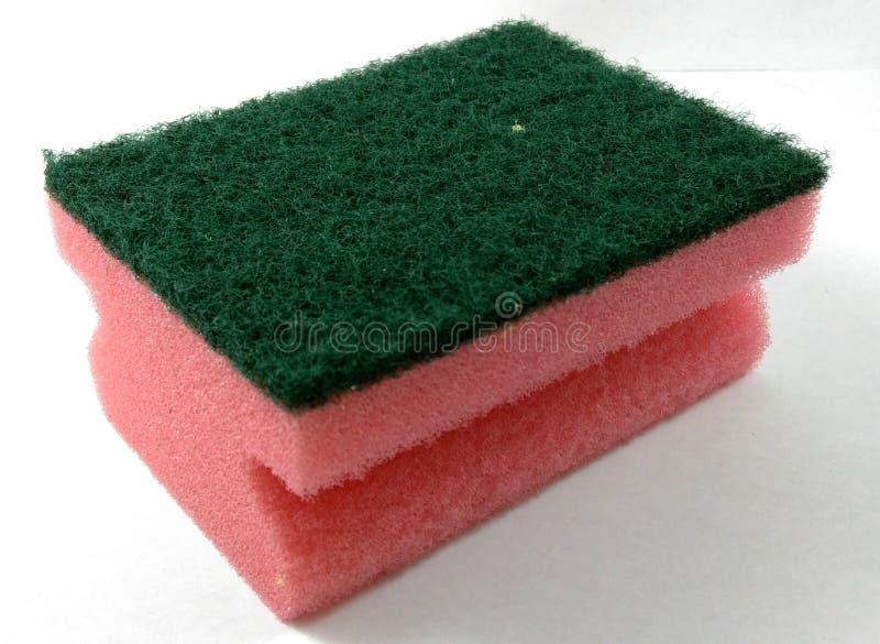 Czyści kolorowa gąbka obrazy stock