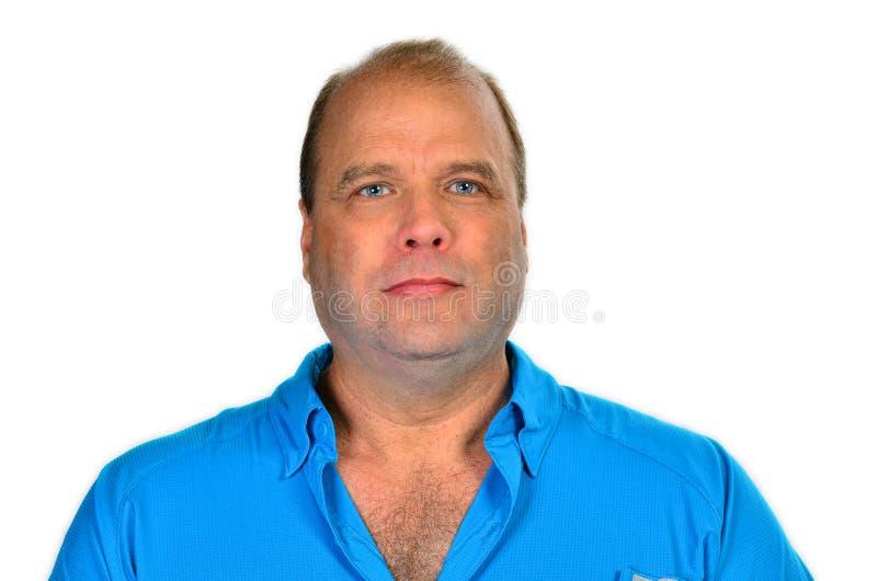 Czyści ogolonego starego łysienie mężczyzna zdjęcie stock