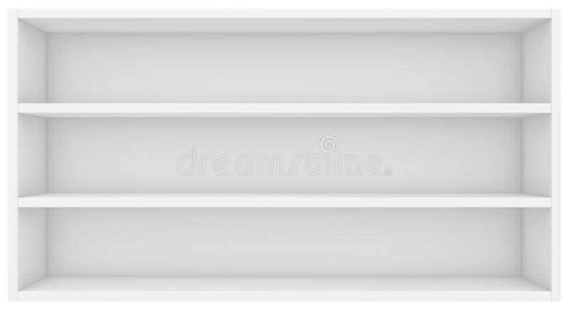 Czyści półka na książki 3d odpłacają się na białym tle royalty ilustracja